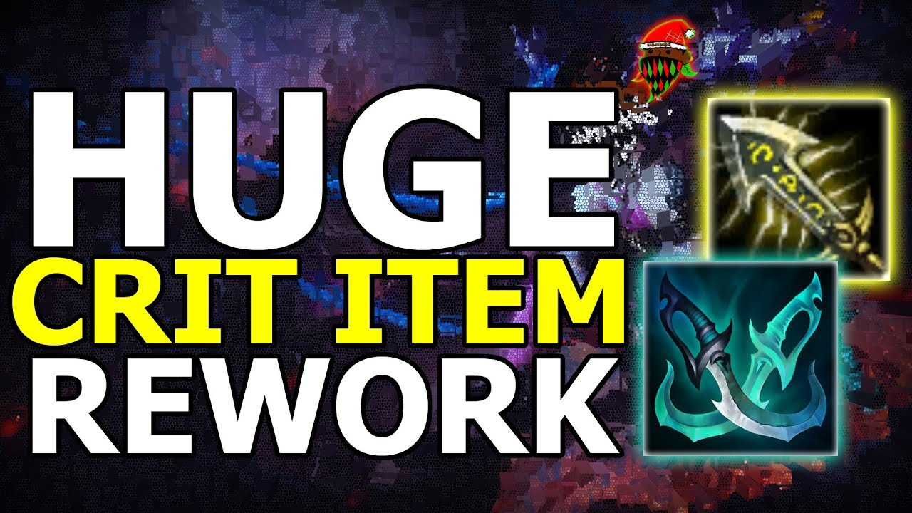 NEW CRIT ITEM REWORK! Massive Changes Coming Soon In Season 9 (League Of  Legends)