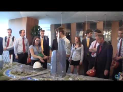 TU Delft Uni students visit Federation Tower in Moscow
