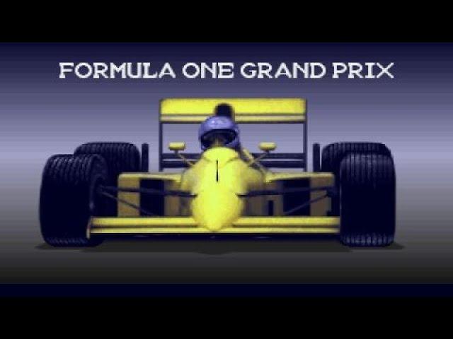 Formula 1 Grand Prix gameplay (PC Game, 1992)