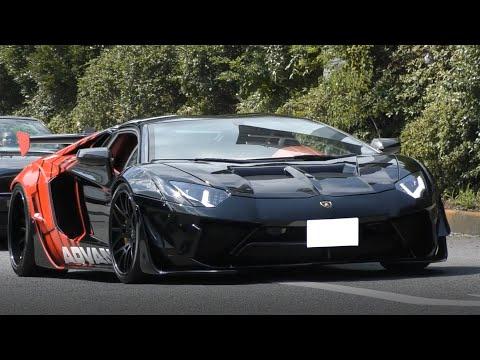 【LBアヴェンタドール、GT-Rが集合】スーパーカーの爆音加速サウンド/大黒PA