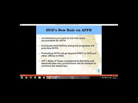 Affirmatively Furthering Fair Housing and Best Practices for Developers 1 21 16