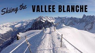 Skiing the Vallee Blanche - Chamonix Mont-Blanc France - February 2019