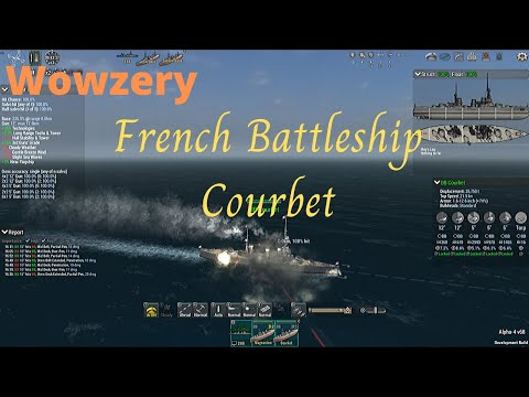 French Battleship Courbet - Ultimate Admiral: Dreadnoughts