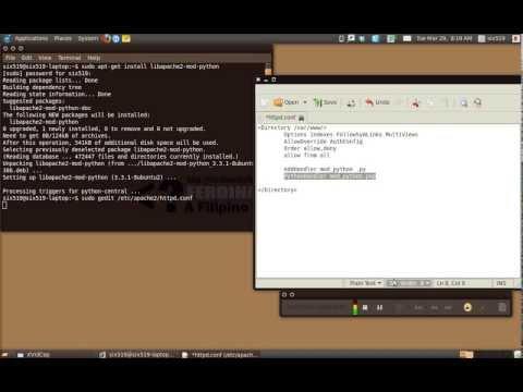 Apache and mod_python (PSP Handler)