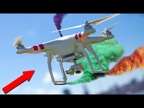 """INSANE DRONE STUNTS WITH SMOKE GRENADES! """"Must Watch"""" (EXPERIMENT)"""