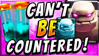 3 CROWN IN 50 SECONDS! UNSTOPPABLE GOLEM CLONE DECK — Clash Royale