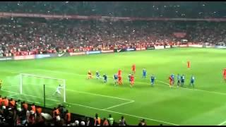 Türkiye: 1 - İzlanda: 0 | Selçuk İnan Frikik Gol Tribün Çekimi