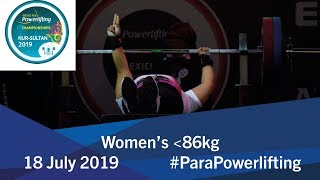 Women's up to 86kg | 2019 WPPO Championships thumbnail