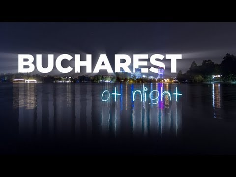 Bucharest at night | A Time Lapse/Hyper Lapse Film 4K