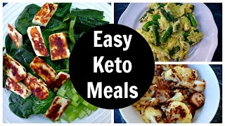 Easy Keto Meals - Full Day of Low Carb Ketogenic Diet Eating