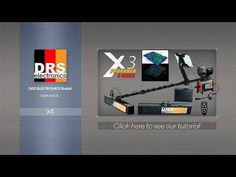 3D Ground Scaner DRS Proradar X3 (magnetometer and gradiometer) with 2 antennas