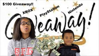 GIVEAWAY!! | $100 XBOX, PlayStation, and Nintendo | November 2018 | Entries from Nov. 1st to 18th.