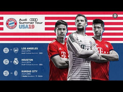 FC Bayern To Face Arsenal, Real Madrid And AC Milan In USA! #AudiFCBTour 2019