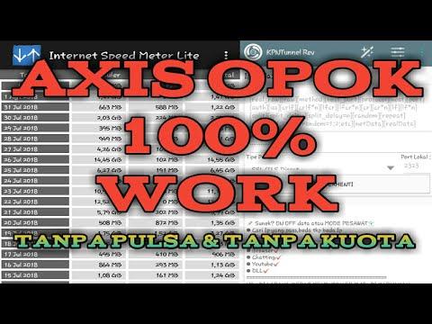 AXIS OPOK 0PULSA 0KUOTA Limit Gede 100% WORK    Axis Hura-Hura #InternetGratis