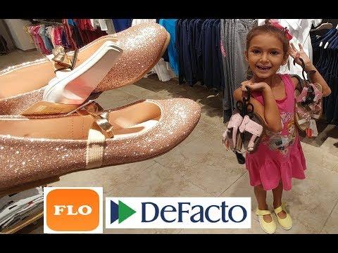 FLO ve DEFACTO alışverişimiz. Elife winx kostüm için ayakkabı arıyoruz.
