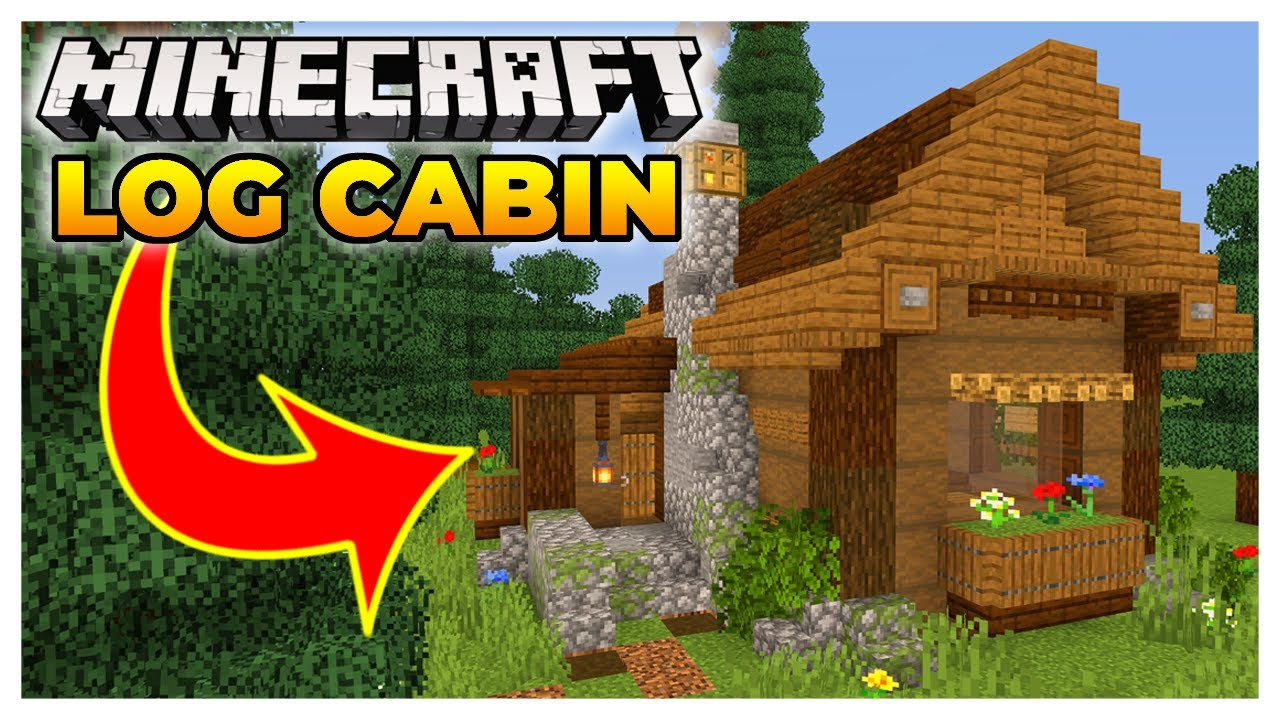 Minecraft Log Cabin Starter Home (Everything You Need!)