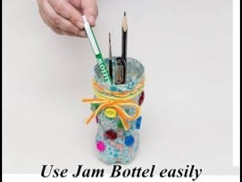 Diy How Can We Use Empty Jam Bottel Make Your Own Decoration At