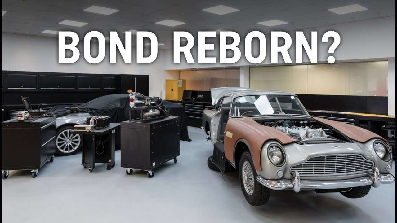 Aston Martin Is Building 25 Db5 Bond Cars With Real Gadgets Youtube