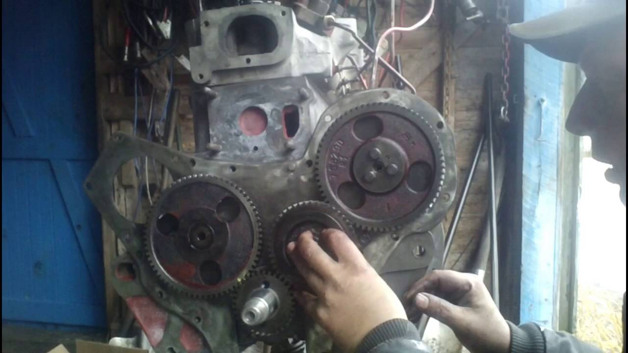 BD 154 rebuild part 9 Injector pump and timing gears
