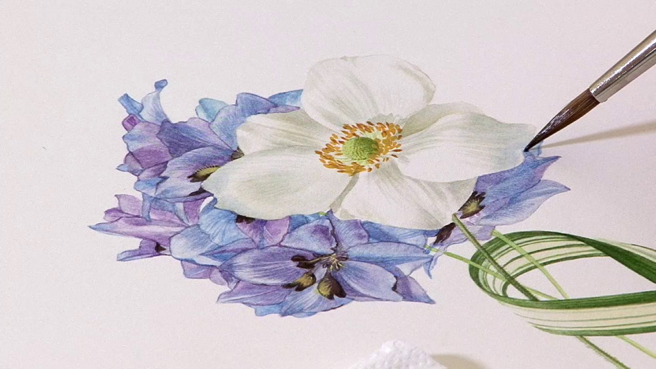 composition bouquet part 3�billy showell � watercolour