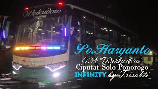 Slow But Sure 120km/h !!Po.Haryanto HM 034 a.k.a Werkudoro Infinity Hino RK260Air Suspersion