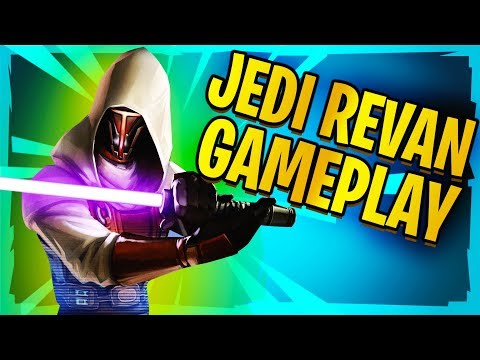Jedi Knight Revan Gameplay!  Star Wars: Galaxy of Heroes