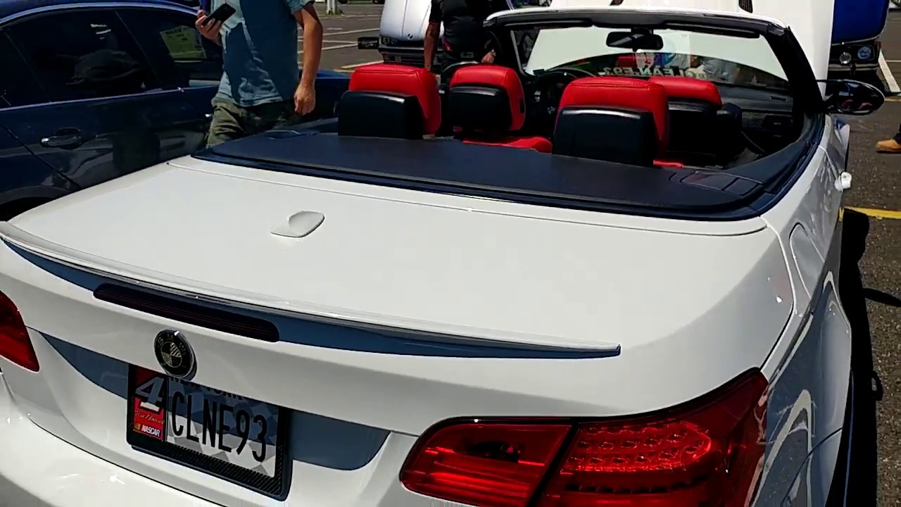 2010 White Bmw M3 Convertible With Red Leather Interior Youtube