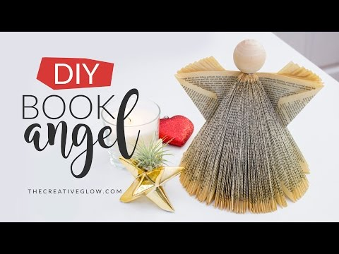 DIY Book Angel // Under $5 Christmas Decor