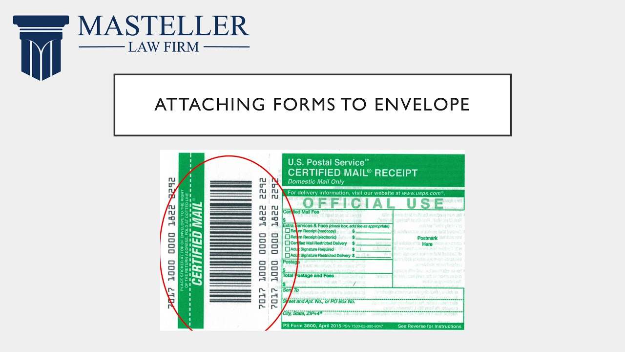 how to send a certified letter return receipt requested