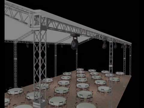 Newton cortes dise os 3d para eventos y espectaculos youtube for Diseno de interiores salones
