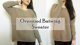 How to Crochet Oversized Batwing Sweater