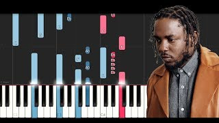 Kendrick Lamar, SZA - All The Stars (Piano Tutorial)