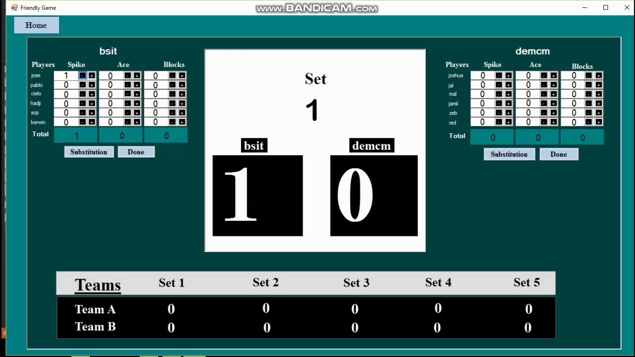 Volleyball Scoring System Youtube