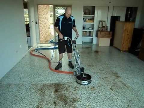 seamless garage floor steam clean in north rockhampton