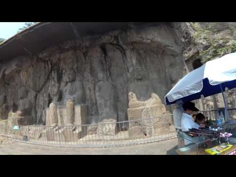 Trip to Longmen Grottos at Luoyang by Taxi June 2017-4K