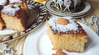 Греческий манный пирог с миндалем