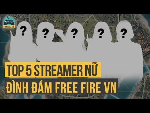 TOP 5 Nữ Streamer/ Youtuber HOT Nhất Free Fire   TOP 5 Free Fire