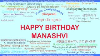 Manashvi   Languages Idiomas - Happy Birthday
