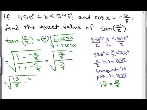 how to find an angle using trig
