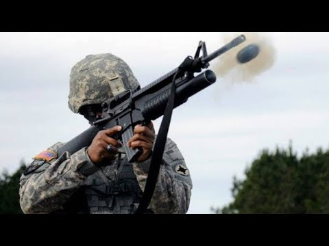 US Marines Shooting the Powerfull M203 Grenade Launcher With Perfect Hits - US Military TV