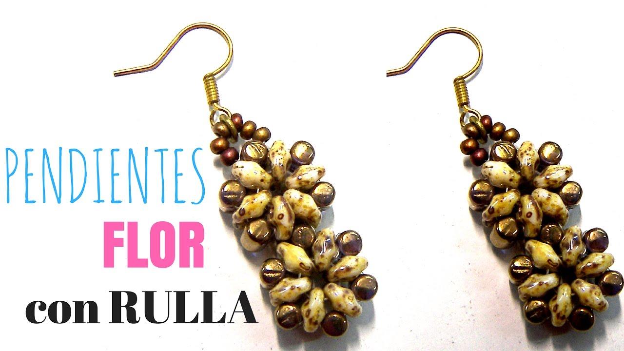 df8623b3d474 DIY Abalorios - Pendientes Flor (rulla y Superduo ) - YouTube
