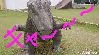 那須の公園 なぜにティラノサウルス⁉  ほかにあるのはパンダとかですけ...