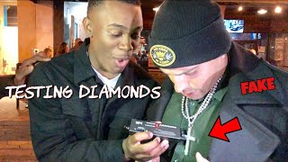Download TESTING STRANGERS DIAMONDS 😭💎 (EXPOSED EDITION)  | PUBLIC INTERVIEW Mp3 and Videos