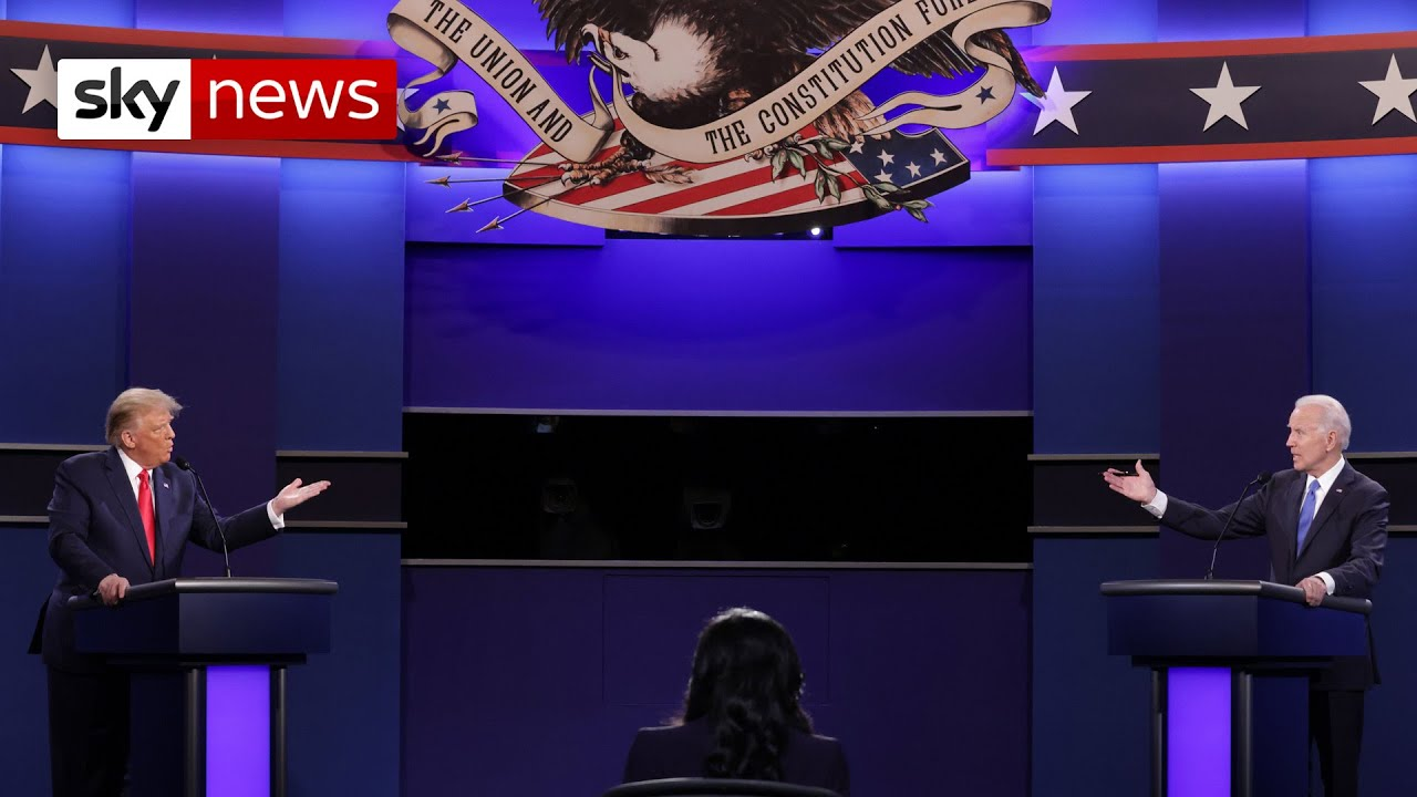 Trump and Biden face off in final US presidential debate - highlights