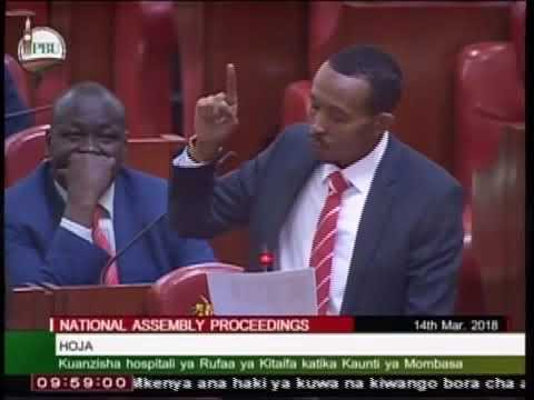 FULL MOTION MOHAMED ALI QUITE TOUCHING AND INSPIRING SUBMISSION ON HEALTH IN PARLIAMENT