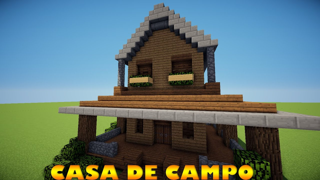 Minecraft como construir uma casa de fazenda youtube for De construir casas