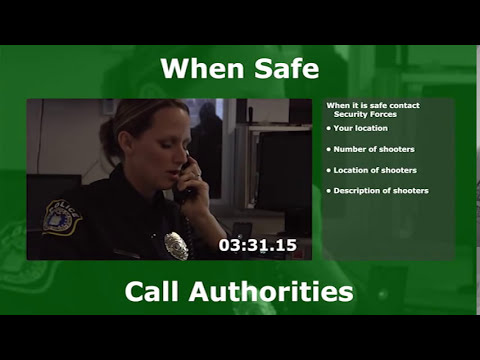 active shooter how to respond video
