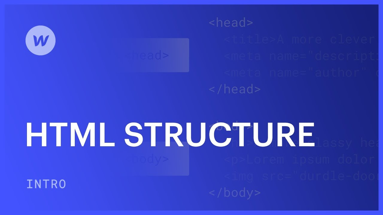 Html structure web design tutorial