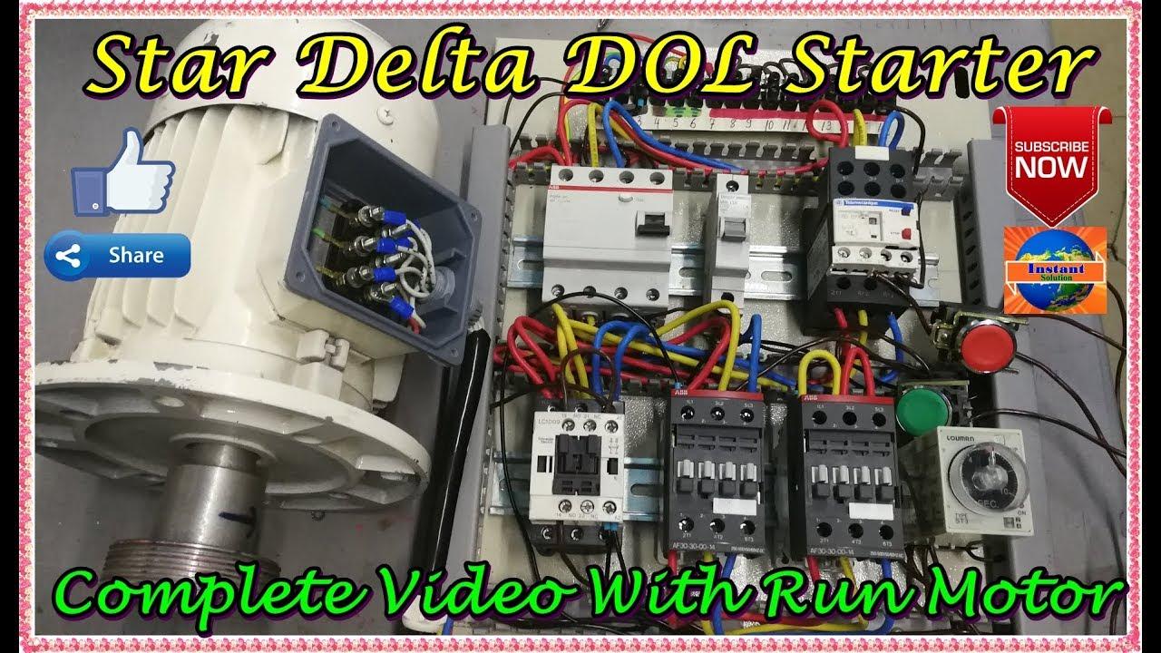 Star Delta Starter Olr Connection Power Wiring Control
