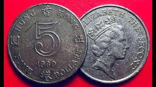 Country hong kong (china)type common coinyears 1980-1984value 5 dollars5 hkd = 0.64 usdmetal copper-nickelweight 13.4 gdiameter 27 mmthickness 3.26 mmshape r...